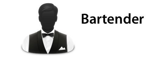 Sihirli elma bartender kalabalik menu cubugu banner