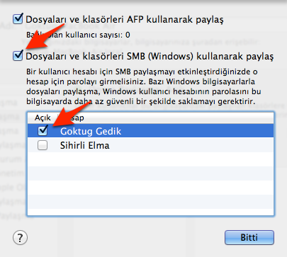 Sihirli elma mac windows dosya paylasimi 5
