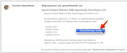 Sihirli elma mac app store guncelleme gizlemek 2