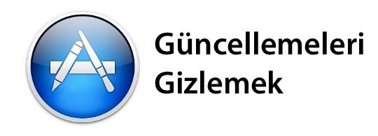 Sihirli elma mac app store guncelleme gizlemek banner