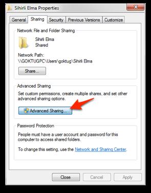 Sihirli elma windows mac dosya paylasimi 1