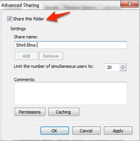 Sihirli elma windows mac dosya paylasimi 2