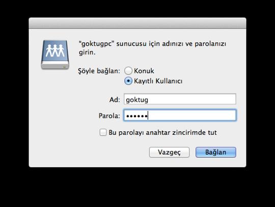 Sihirli elma windows mac dosya paylasimi 6