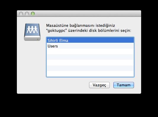 Sihirli elma windows mac dosya paylasimi 7