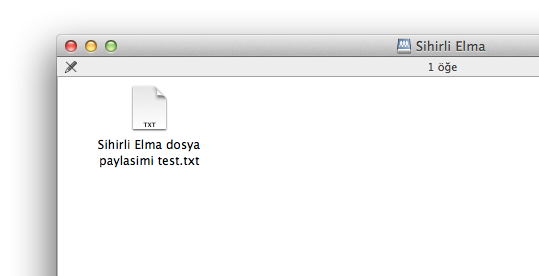 Sihirli elma windows mac dosya paylasimi 8