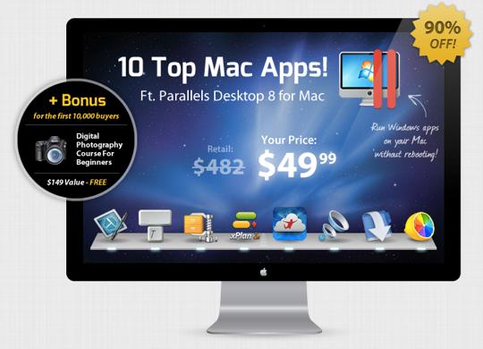 Sihirli elma 10 mac uygulama parallels desktop 1