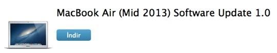 Sihirli elma 2013 macbook air yazilim guncelleme 2