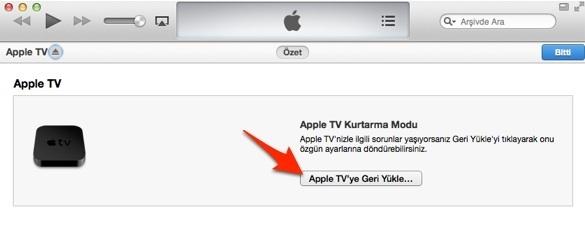 Sihirli elma apple tv sıfırla geri yukle restore 7 1