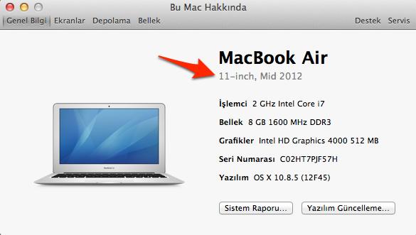 Sihirli elma macbook air 2012 flash bellek firmware guncelleme 5