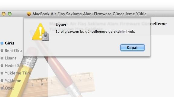 Sihirli elma macbook air 2012 flash bellek firmware guncelleme 7