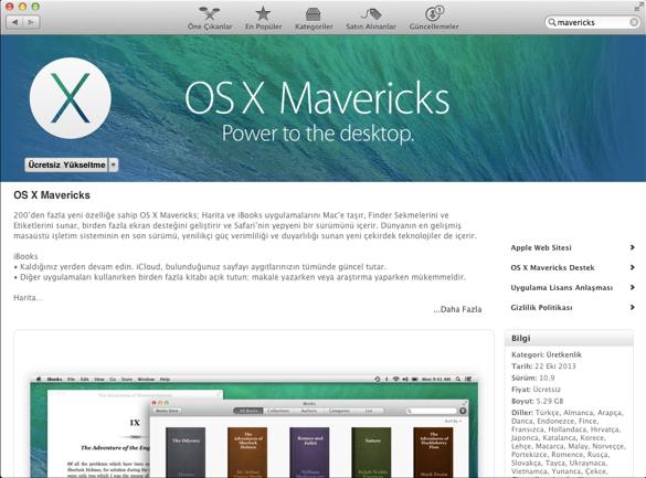 Sihirli elma mavericks mac app store 2