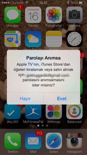 Sihirli elma apple tv iphone kurulum 7