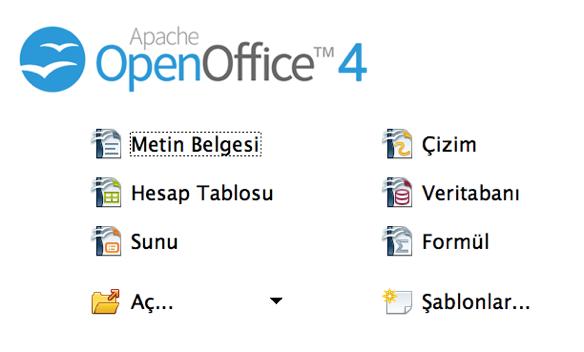 Sihirli elma mac ofis paketleri openoffice 2