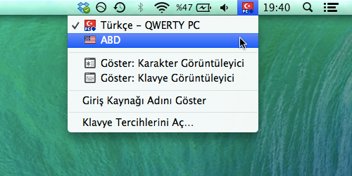 Sihirli elma klavye dili giris kaynagi degistirmek 5