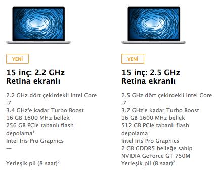 Sihirli elma macbook pro bellek islemci ozellik guncellendi 4