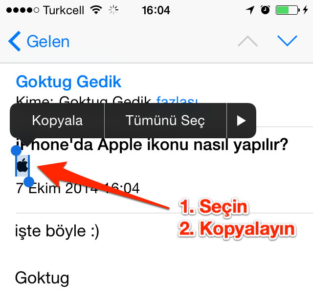 Sihirli elma iphone klavye apple logo 21
