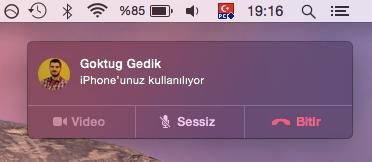 Sihirli elma mac iphone telefon arama gorusme 13