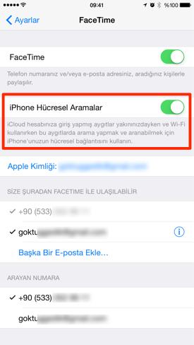 Sihirli elma mac iphone telefon arama gorusme 7a