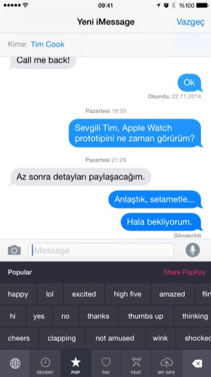 Sihirli elma popkey gif iphone klavye 1
