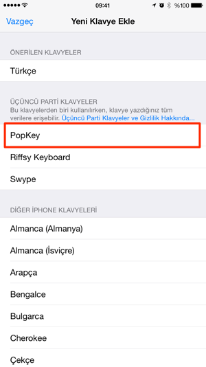 Sihirli elma popkey gif iphone klavye 6