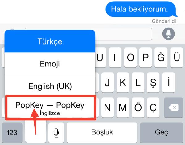 Sihirli elma popkey gif iphone klavye 9a