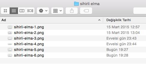 Sihirli elma mac toplu dosya isim degistirme numaralandırma 4