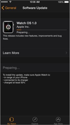 Sihirli elma apple watch os 1 0 1 d