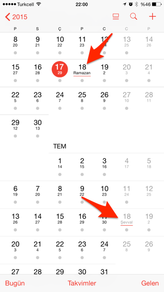 Sihirli elma iphone mac alternatif takvim hicri 5