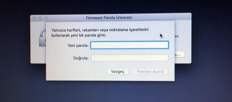 Sihirli elma mac acilis sifresi firmware parola 6