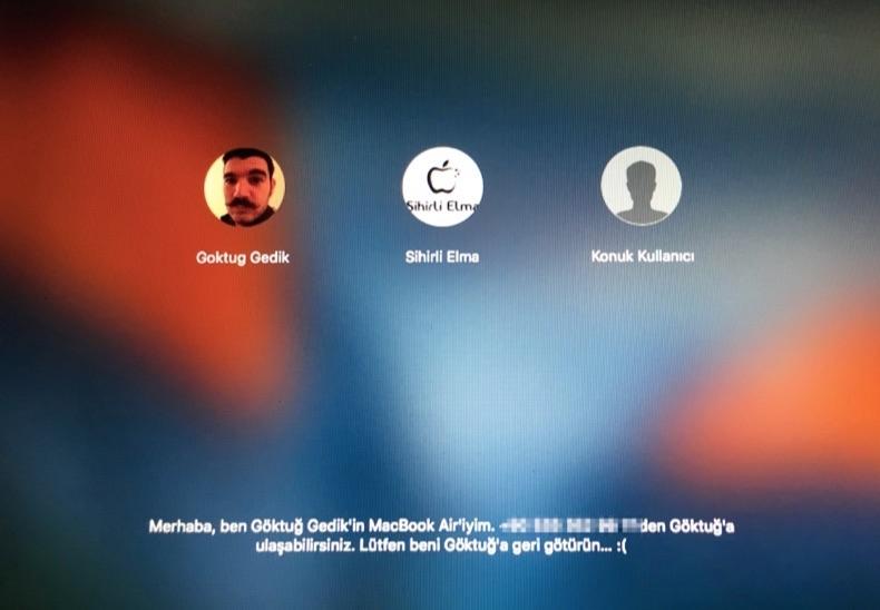 Sihirli elma mac acilis sifresi firmware parola 8