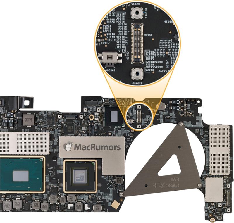 2016 MacBook Pro Logic Board Veri Kurtarma Portu