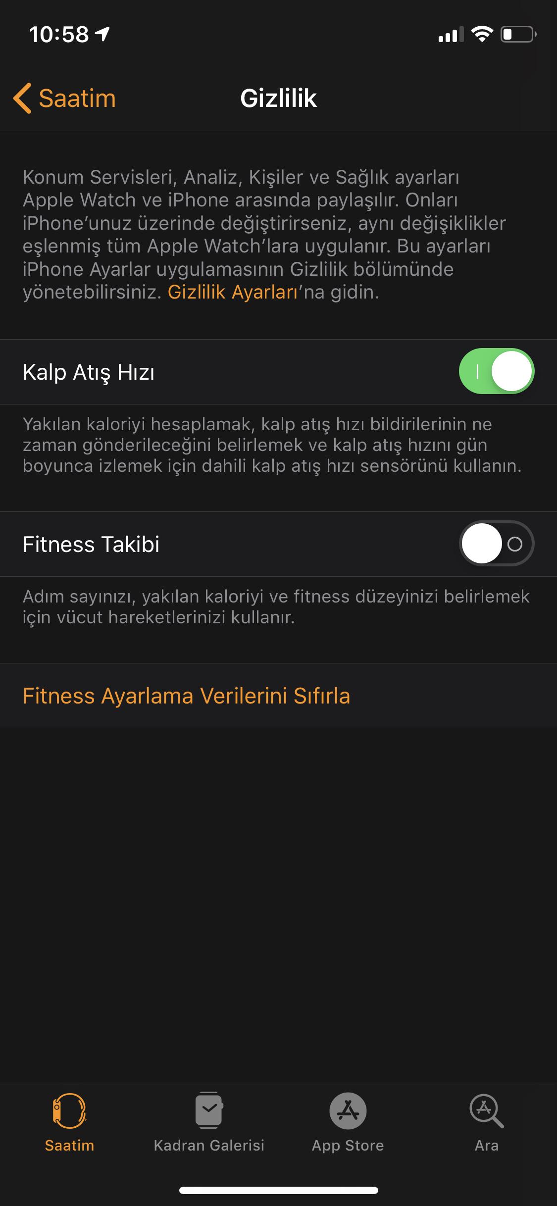 Apple Watch Pil Ömrünü Uzatma Fitness Takibi