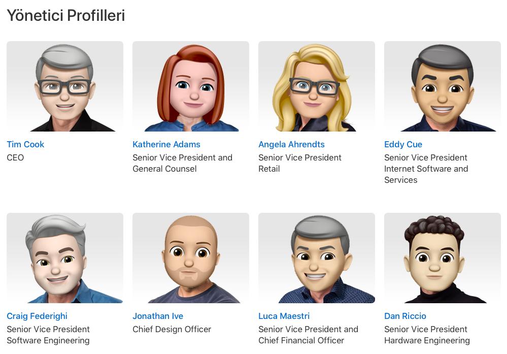 Apple Yönetimi Memoji