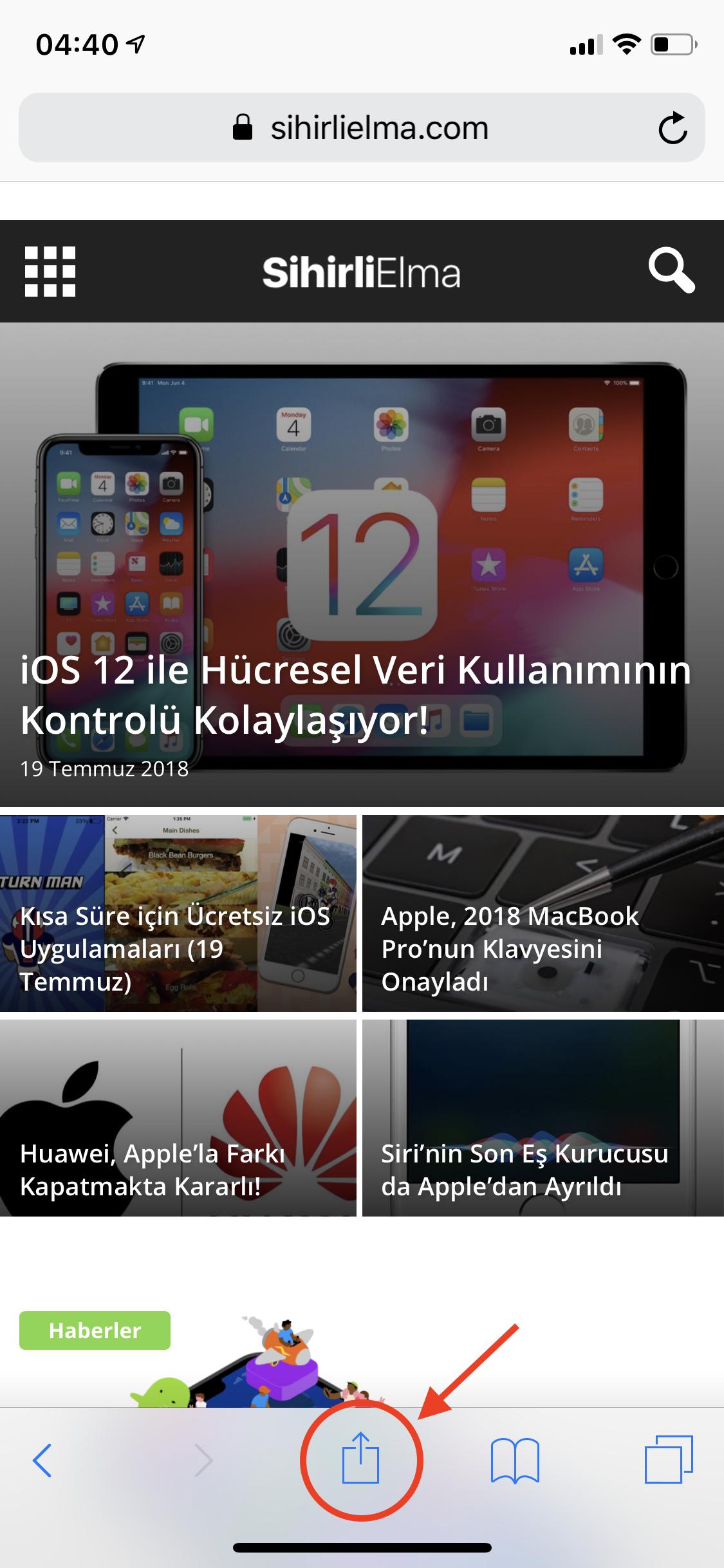 iPhone Progressive Web Uygulaması