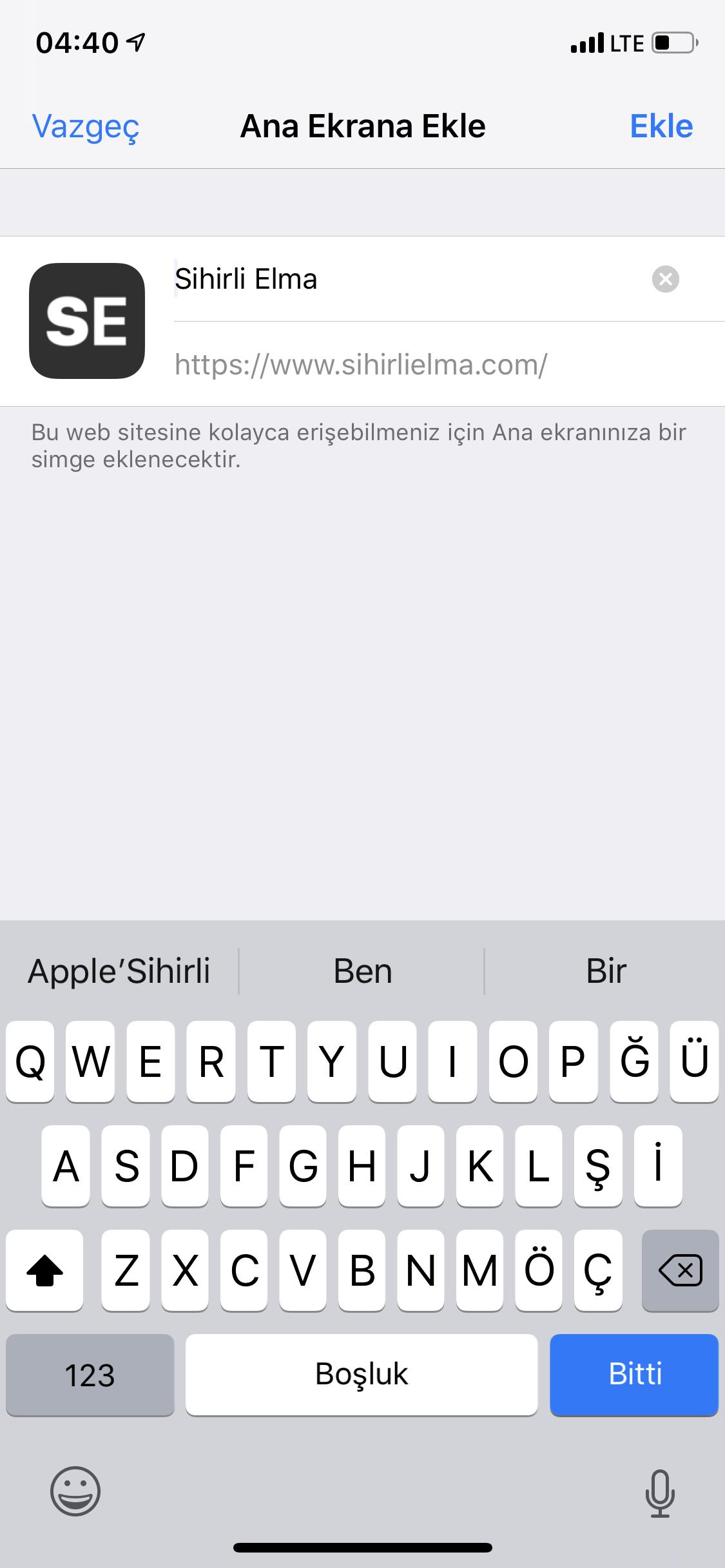 iOS Progressive Web Uygulaması
