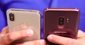 Samsung iPhone X Galaxy S9