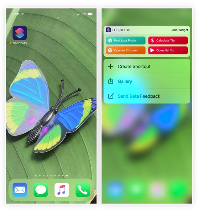 iOS 12 Kısayollar Uygulaması 3D Touch