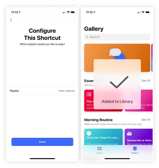 iOS 12 Kısayollar Uygulaması Kütüphane