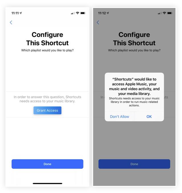 iOS 12 Kısayollar Uygulaması Onay Vererek Erişim