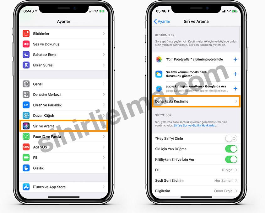 iOS 12 Siri Kestirme