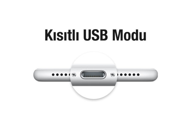 iOS Kısıtlı USB Modu