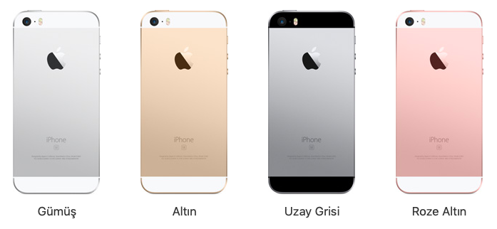 iPhone SE Renk Seçenekleri