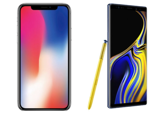 Galaxy Note 9 ve iPhone X