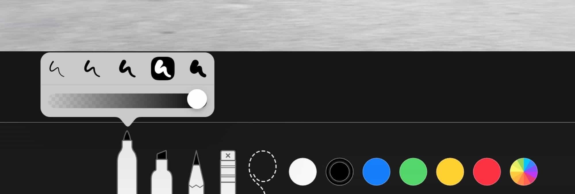 iOS 12 işaretleme özelliği