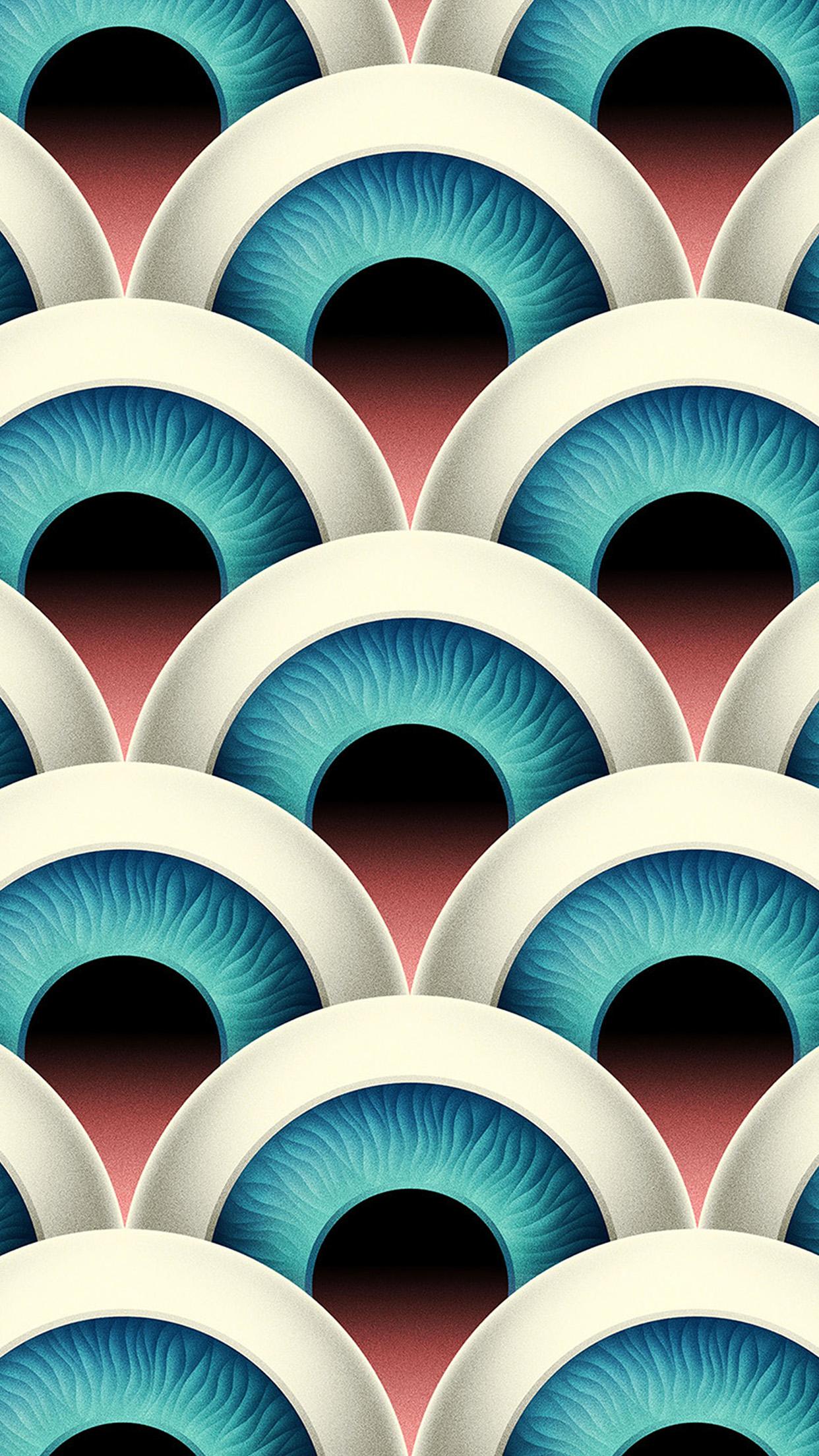 iPhone Duvar Kağıdı-vz57-eye-duplicate-pattern-background-iphone-plus-wallpaper