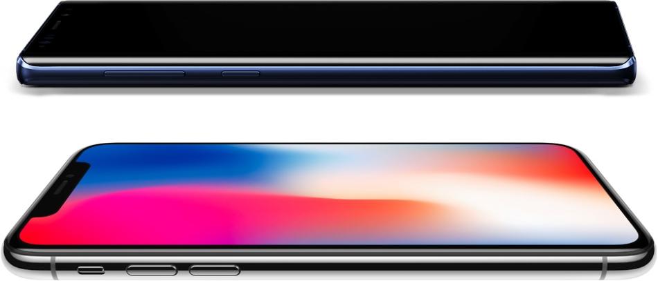iPhone X ve Galaxy Note 9 Ekran