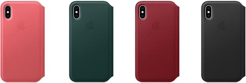 iPhone XS Deri Folyo Kılıf
