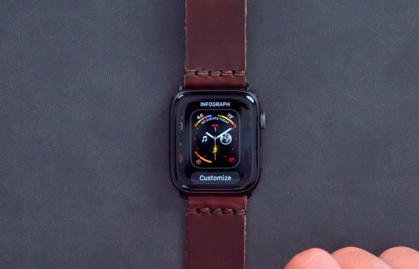 Apple Watch Series 4 İnfografik Saat Kadranı