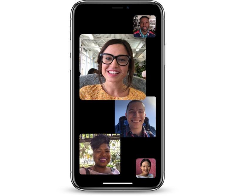iOS 12.1 Grup FaceTime