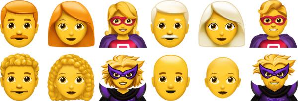 iOS 12.1 Yeni İnsanlar Emoji